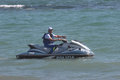 Water craft rome italy june police on personal patrolling during the rome international air show event held in ostia beach Royalty Free Stock Photo
