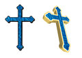 Water cross ilustration isolated on white background Stock Photos