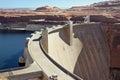 Water dam concrete in the desert Stock Photos
