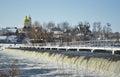 Potomac River in Winter at Great Falls National Park Virginia