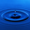 Water drop in blue. design element Royalty Free Stock Photo