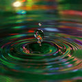 Water drop and colorful ripple Royalty Free Stock Photo
