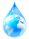 Water Drop Droplet World Earth Globe Royalty Free Stock Photo