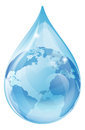 Water drop earth concept Royalty Free Stock Photo