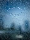 Water Drop Forming a Cloud Rain