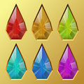 Water drop gem color shaped illustration Royalty Free Stock Image
