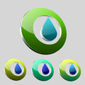 Water drop logo clean nature design Stock Images