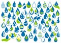 Water drop, logo, hand care, garden, nature, oil, healthy, ecology and water symbol design icon set