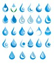 Water drop logo mineral of rain splash Royalty Free Stock Photos