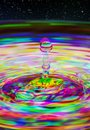 Water Droplet Harris Shutter Effect Royalty Free Stock Photo