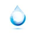 Water drop symbol Royalty Free Stock Photo