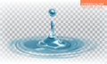 Water drop with transparency, vector
