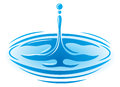 Water Droplet Logo Royalty Free Stock Images