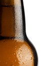 Water droplets on a beer bottle Stock Images