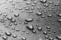 Water drops beautiful gray background Stock Photos