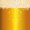 Water drops on beer background vector. Royalty Free Stock Photo
