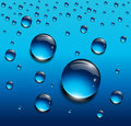Water drops blue Royalty Free Stock Image