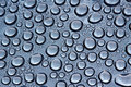 Water drops condense on glass surface Stock Photo