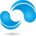 Water drops, drops, water logo Royalty Free Stock Photo