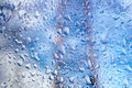Water drops on glass bright abstract background of Stock Photography