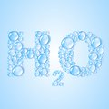 Water drops H2O shaped -  vector background Stock Image