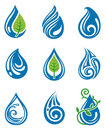 Water drops icons Royalty Free Stock Image