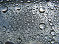 Water drops metalic Stock Image