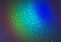 Water drops with reflection of the rainbow Royalty Free Stock Photo