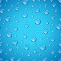 Water drops seamless background a vector pattern Stock Photo