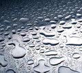 Water drops on stainless steel Royalty Free Stock Photo