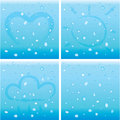 Water drops vector illustration of a on a glass Royalty Free Stock Images
