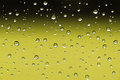 Water drops on window closeup image of a after rain Stock Photography