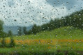 Water drops window rain car Royalty Free Stock Photo