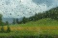 Water drops window rain car Royalty Free Stock Photo