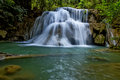 Water emerald and white of hui mae kamin waterfall kanchanaburi thailand Stock Image