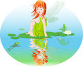 Water fairy Royalty Free Stock Photography