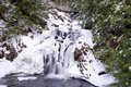 Water fall in winter nova scotia canada Royalty Free Stock Images