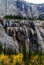 Weeping wall, Banff National Park, Alberta, Canada Royalty Free Stock Photo