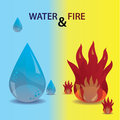 Water and fire icons eps Stock Images