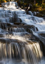 Water flow staircase waterfalls in the forest showing great and motion during a slow shutter image Stock Images