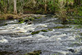 Water flowing in Hillsborough river Royalty Free Stock Photo