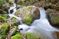 Water flowing stream in jiuzhaigou valley Stock Photo