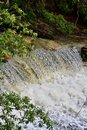 Water flows down a swiftly moving brook upstream from Wentworth Falls Royalty Free Stock Photo