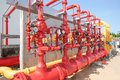Water and foam line for fire protection system Royalty Free Stock Photo