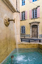 Water from the fountain a flowing fresh in town of brignoles in provence south of france Stock Photography