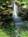 Water garden falls Stock Image