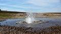 Water geysir at Hveravellir geothermal area in Iceland Royalty Free Stock Photo
