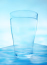 Water a glass of blend with the blur background Royalty Free Stock Photo