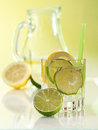 Water in the glass with ice cubes Royalty Free Stock Photo