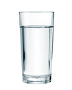 Water glass isolated with clipping path Royalty Free Stock Photo